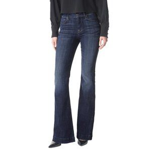 7 For All Mankind Ginger Distressed Wash Wide Flare Jeans